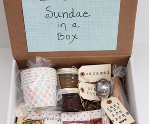 ice cream, ice cream sundae, and pinterest gifts image