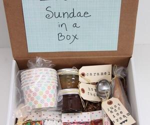 ice cream, gifts ideas, and ice cream sundae image