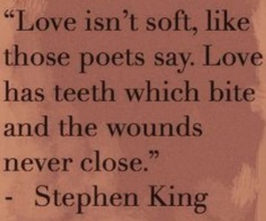 love, quote, and Stephen King image