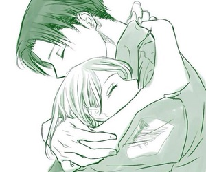 petra, levi, and attack on titan image