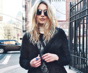 blonde, sunglasses, and cute image
