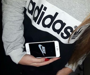 adidas, girl, and grey image