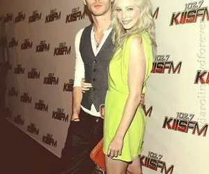klaus, candice accola, and joseph morgan image
