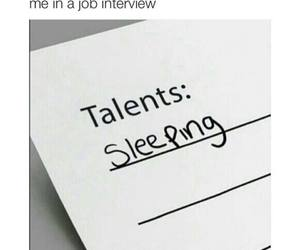 talent, sleeping, and sleep image