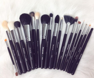 Brushes, girl, and makeup image