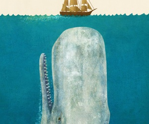art, moby dick, and painting image