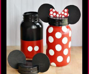 disney land, mickey mouse, and mason jar crafts image