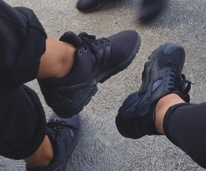 black, shoes, and nike image