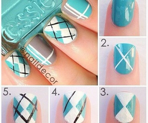 nails, blue, and diy image