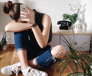 adidas, flowers, and girl image