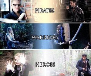 hook, captain swan, and once upon a time image
