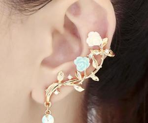 earrings and flowers image