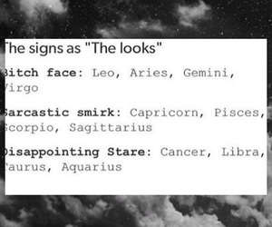 horoscope, looks, and sarcastic image