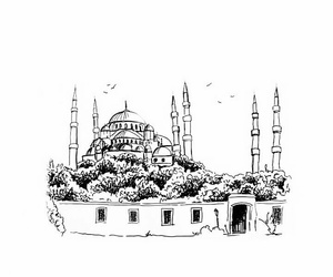mosque, painting, and love image