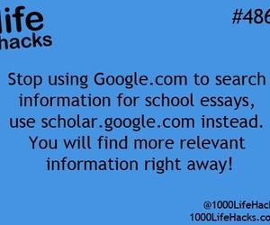 school, hacks, and google image