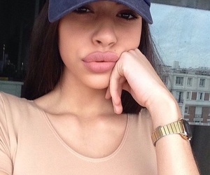 girl, pretty, and lips image