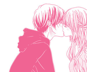 kiss, love, and manga image