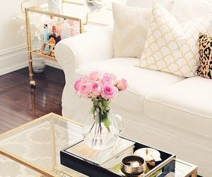 home, decor, and white image