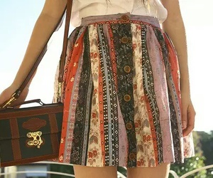 skirt, fashion, and bag image