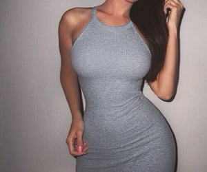 dress, body, and goals image