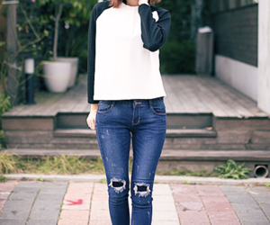fashion, korean, and beautiful image