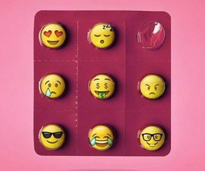 pills, pink, and emoji image