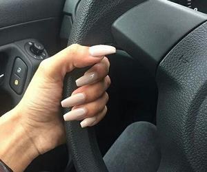 nails, girl, and car image