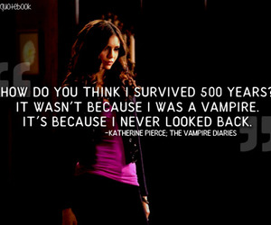 quote, katherine, and the vampire diaries image