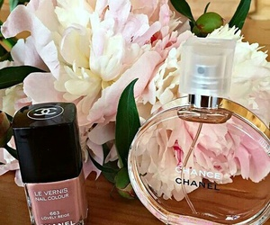 perfume, flowers, and chanel image