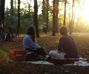 love, boy, and picnic image