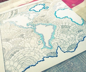 drawing, map, and zentangle image