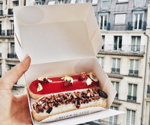 food, dessert, and eclairs image