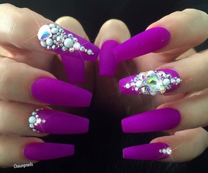 diamonds, gorgeous, and nails image