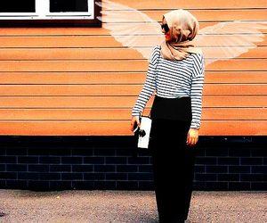 hijab, fashion, and islam image