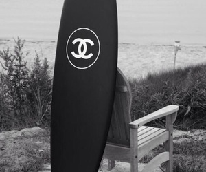 chanel, surf, and beach image