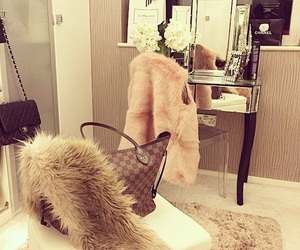 luxury, chanel, and fur image