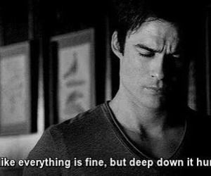 quote, the vampire diaries, and ian somerhalder image