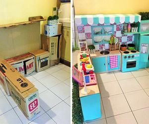 child, childeren, and kitchen image