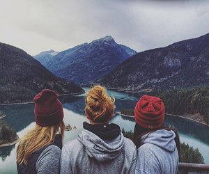 friends, girl, and nature image