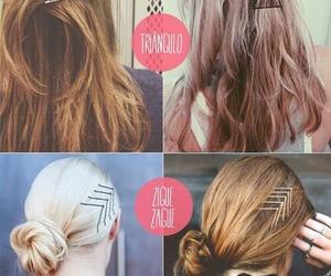 hair, diy, and bobby pins image