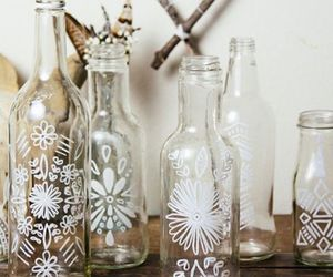 bottle, decoration, and decor image