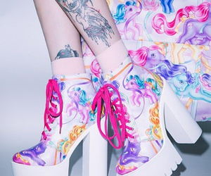 pony, shoes, and tattoo image