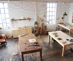 atelier, room, and white image