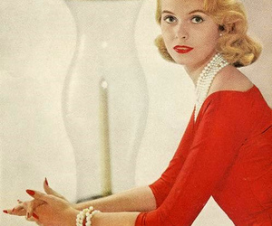 1950's, magazine, and red dress image