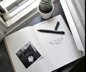 grunge, notebook, and pale image