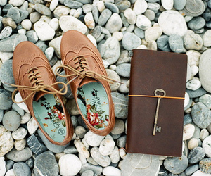 brown, oxfords, and pebbles image