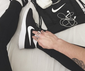 black, nike, and fashion image