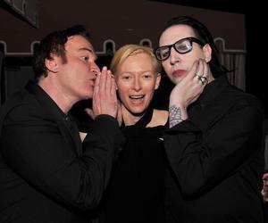 Marilyn Manson, quentin tarantino, and Tilda Swinton image