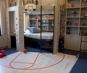 room, Basketball, and bedroom image