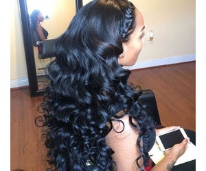 curls, hair, and weave image